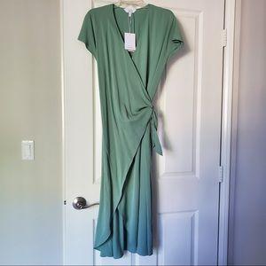 Paris Atelier & Other Stories Sage Green Dress 10